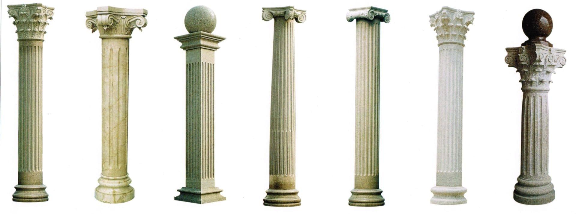 Типы и виды колонн, ригелей и капителей колонн